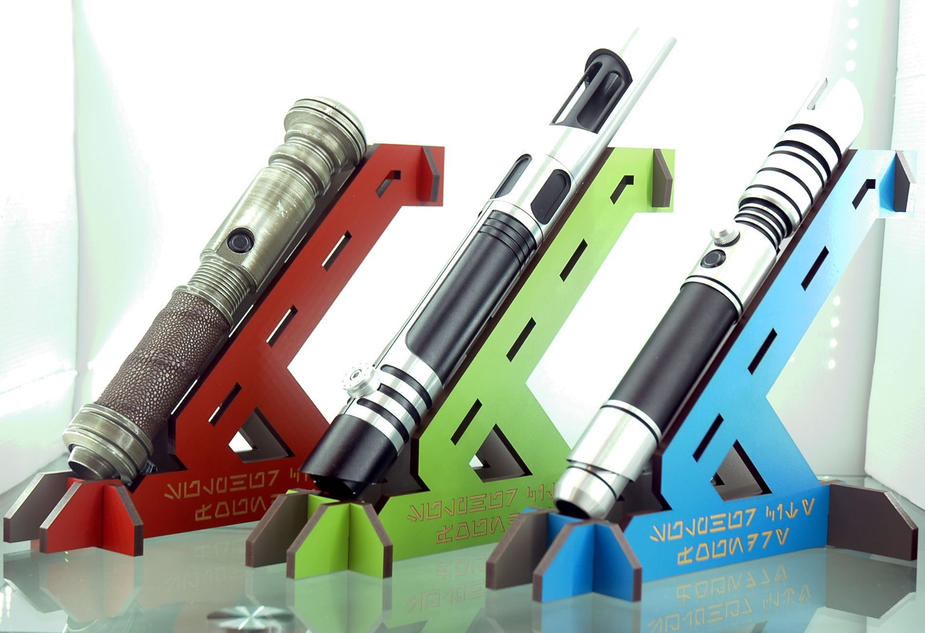 New Colour Range of Lightsaber Stands