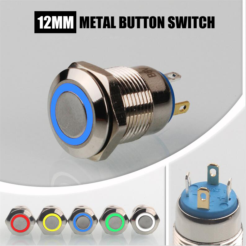 12mm-Metal-Push-Button-Switch-Red-Green